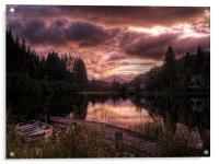 Loch Ard, Summer Glow, Acrylic Print