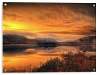 Loch Ba Sunrise, Scotland, Acrylic Print