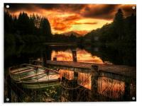 Loch Ard, Scotland, Acrylic Print