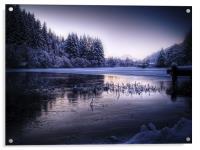 Loch Ard, Frozen In Time., Acrylic Print