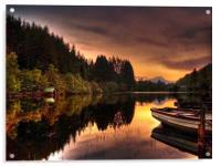 Loch Ard Reflections, Acrylic Print