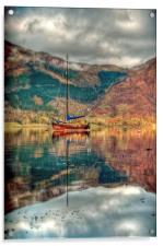 Boat On Loch Leven, Acrylic Print