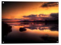 Loch Ba Sunrise, Acrylic Print