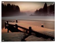 A Misty Glow., Acrylic Print