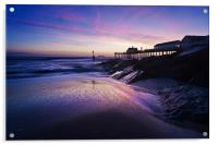 Blue dawn over Southwold Pier, Acrylic Print