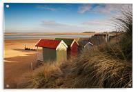 Beach Hut view, Acrylic Print