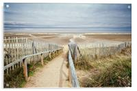 Slope to Holkham Beach, Acrylic Print