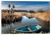 Blue Boat at Hickling, Acrylic Print