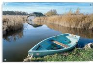 Hickling Boathouse, Acrylic Print