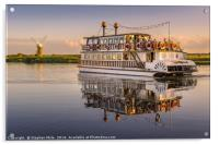 'Southern Comfort' Paddle Boat, Acrylic Print