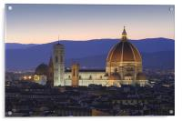 Florence by night, Acrylic Print