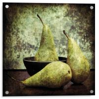 Pears and a bowl, Acrylic Print
