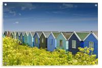 Beach huts in Springtime, Acrylic Print