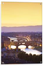 Ponte Vecchio, Florence, Acrylic Print
