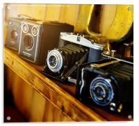 Vintage Cameras, Acrylic Print