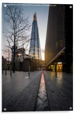 Flowing Towards the Shard, Acrylic Print