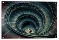Vatican stairs, Acrylic Print