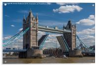 Tower Bridge Open, Acrylic Print