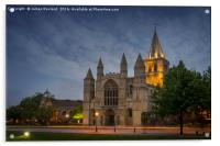 Rochester Cathedral at Dusk, Acrylic Print
