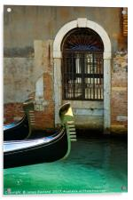 Gondola and arched doorway, Acrylic Print