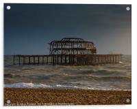 West Pier Ruins, Acrylic Print