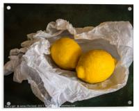 Lemons on Tissue paper, Acrylic Print