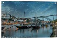 Porto at Dusk, Acrylic Print