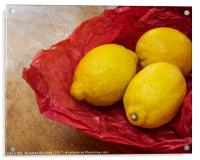Still Life with Lemons, Acrylic Print