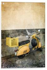 The Yellow Scooter, Acrylic Print