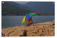 Beach Umbrella, Acrylic Print