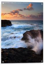 Lumahai Sea Explosion, Acrylic Print