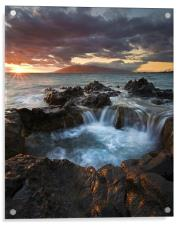 Sunset Caldron, Acrylic Print