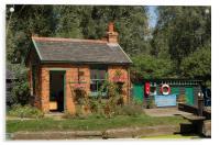 Paper Mill Lock Gate House, Acrylic Print