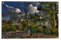 Cottage gate, Acrylic Print