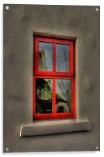 Cottage window, Acrylic Print