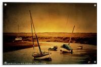 Blakeney Boats 2, Acrylic Print