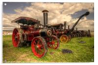 Traction Engines at the Great Dorset, Acrylic Print