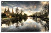 Reflections over Lichfield, Acrylic Print