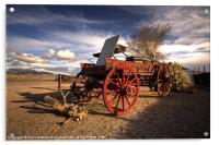 The Ol Wagon, Acrylic Print