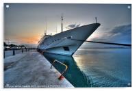 Super Yacht at Nafplion, Acrylic Print