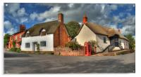 Thatched cottages of Halse, Acrylic Print
