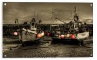 Fishing Boats at Lyme Regis, Acrylic Print