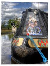 A Dogs Life Afloat, Acrylic Print
