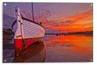 Stranded in Burnham Overy Staithe, Acrylic Print