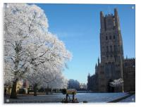 Ely Cathedral in the Snow, Acrylic Print