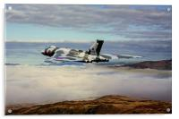 Vulcan XH558 over Snowdonia, Acrylic Print