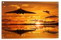 Vulcan Bomber Sunset, Acrylic Print
