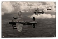 Lancaster Bombers in sepia, Acrylic Print