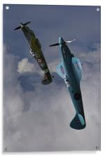 Spitfires topping the loop, Acrylic Print
