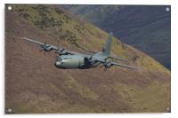 C130 Hercules low level, Acrylic Print